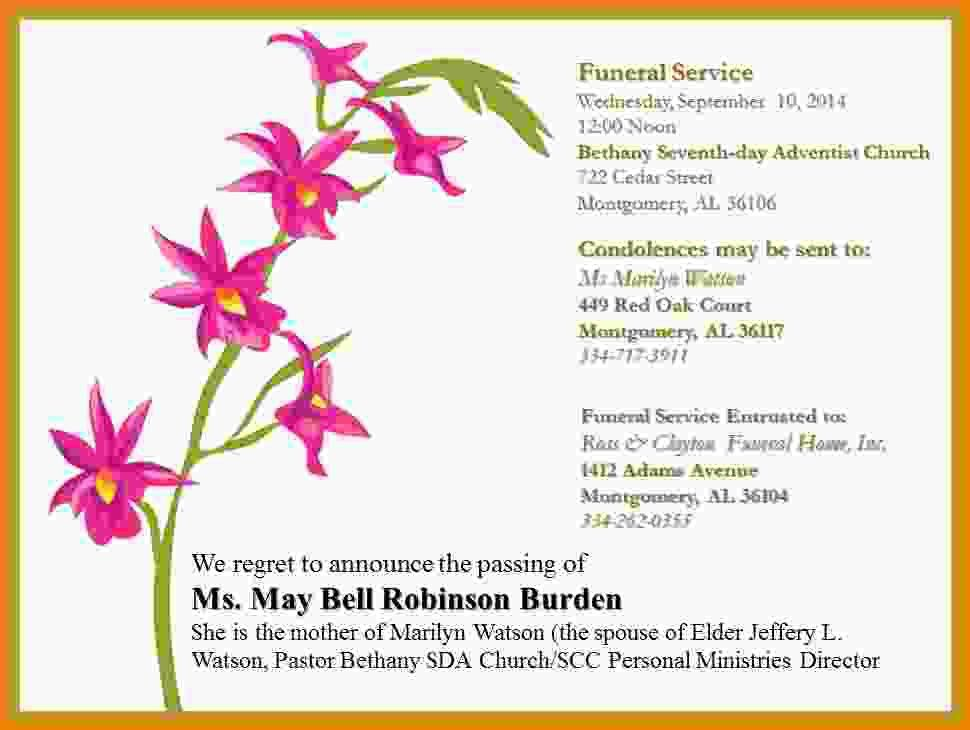 Funeral Announcements Template - Contegri.com