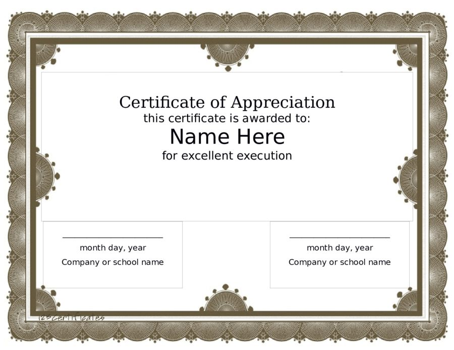 Award Certificate Template - Free Printable Certificate Templates ...