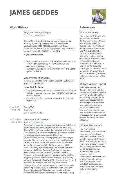 Regional Sales Manager Resume samples - VisualCV resume samples ...