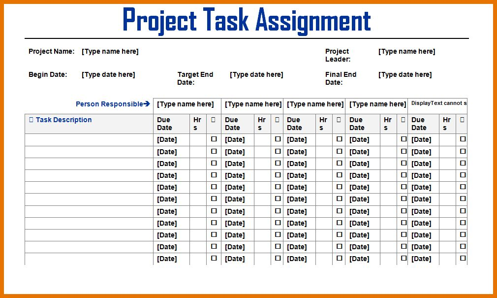 7+ project task list template | Itinerary Template Sample