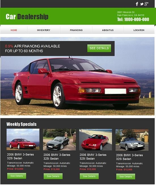 18 Free Automotive Website Templates