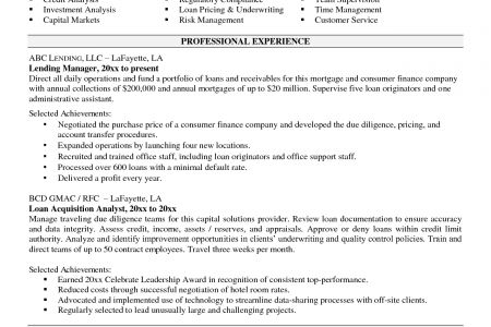 Warrant Officer Resume Summary Example - Reentrycorps