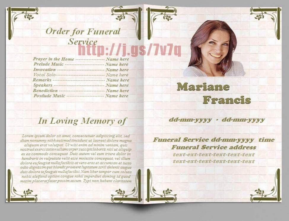 Memorial Programs in Spanish | Funeral Program Templates for MS ...