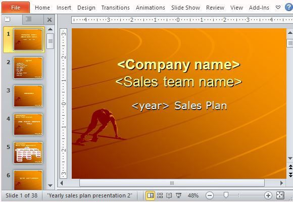 Yearly Sales Plan Templates For PowerPoint