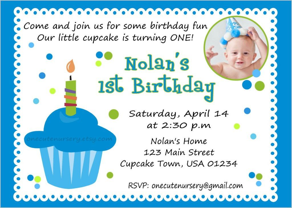 First Birthday Invitation Wording – Bagvania FREE Printable ...