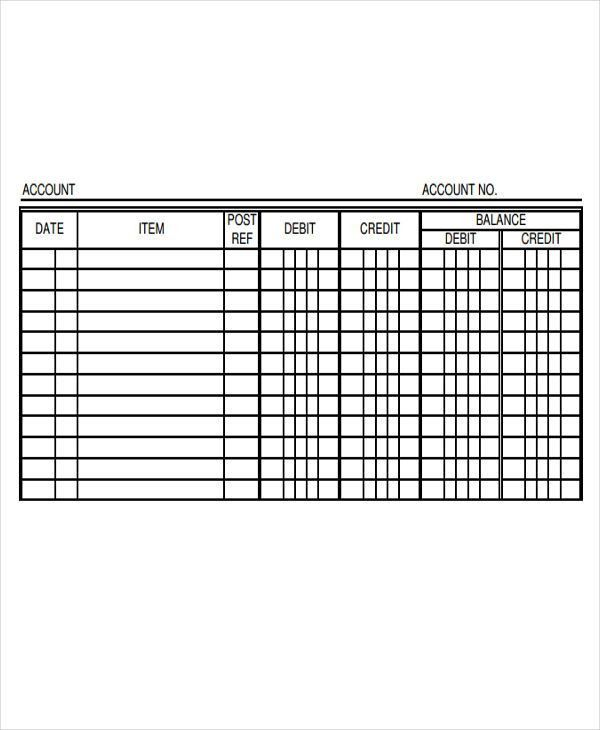 4+ Ledger Paper Templates - Free Samples, Examples, Format ...