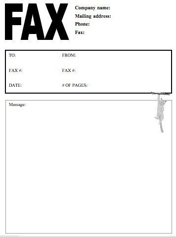 Sample Creative Fax Cover Pages | Samples and Templates