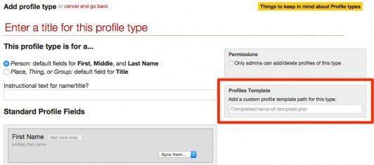 Custom Profile Templates per Profile Type - Developer - LiveWhale CMS