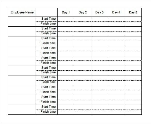 Sample Excel Timesheet. Hr Timesheet Templates | Download Free ...