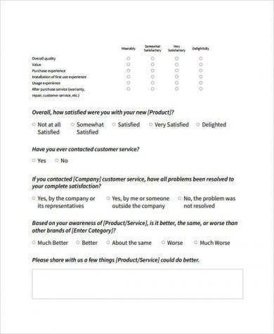 Product Survey Template. 10+ Memo Formats   Survey Template Words ...