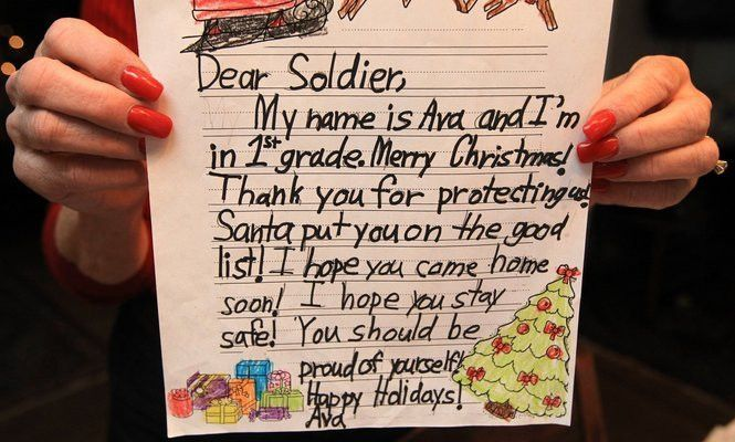 To soldier with love: Holiday letter-writing campaign nets 25,000 ...