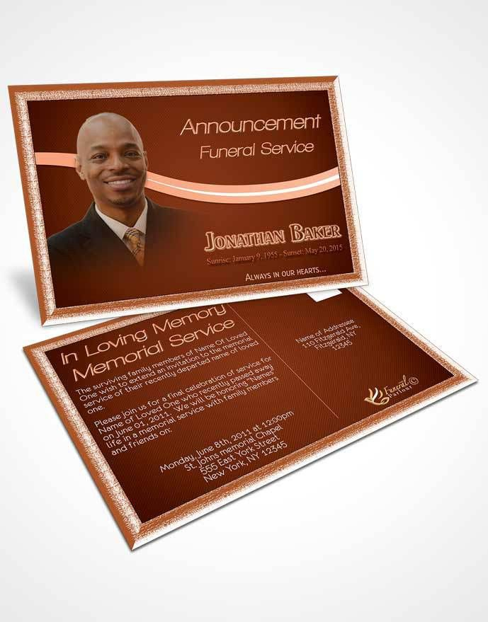 Obituary Template Trifold Brochure Cinnamon Journey