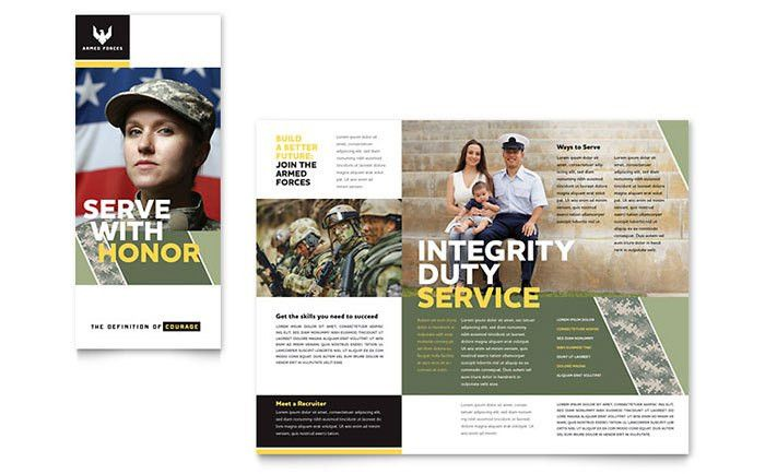 Military Brochure Template - Word & Publisher