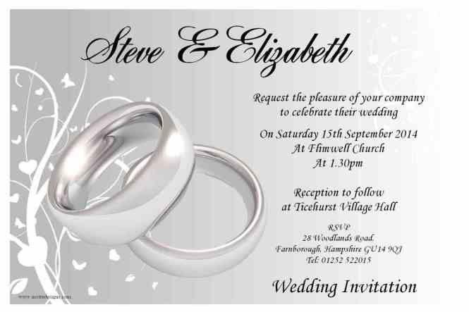 Free Wedding Reception Invitation Templates | PaperInvite