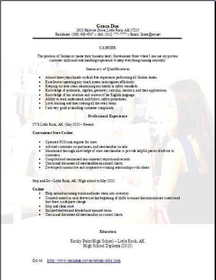 Convenience Store Cashier Resume, Occupational:examples,samples ...