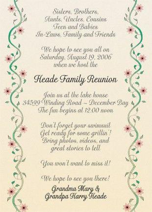 Family Reunion Invitation, Style fr-10