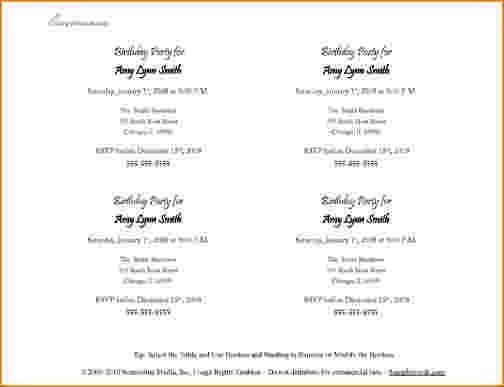 10+ invitation template microsoft word | bibliography format