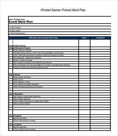 Excel Work Plan Template - 9+ Free Excel Documents Download | Free ...