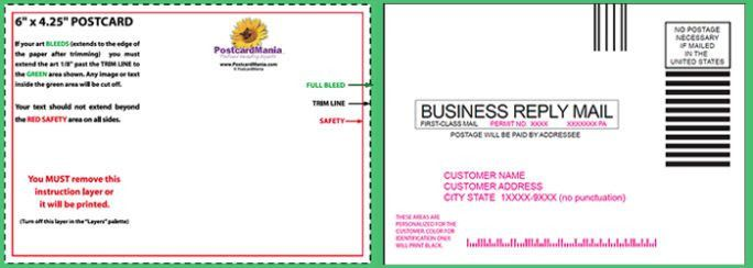 Mailing & Printable Business Postcard Template | Calendar Template ...