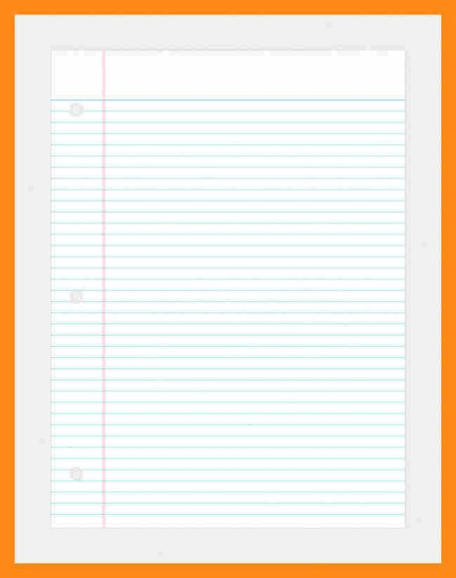 College Ruled Paper Template. 8+ Ruled Lined Paper Template ...