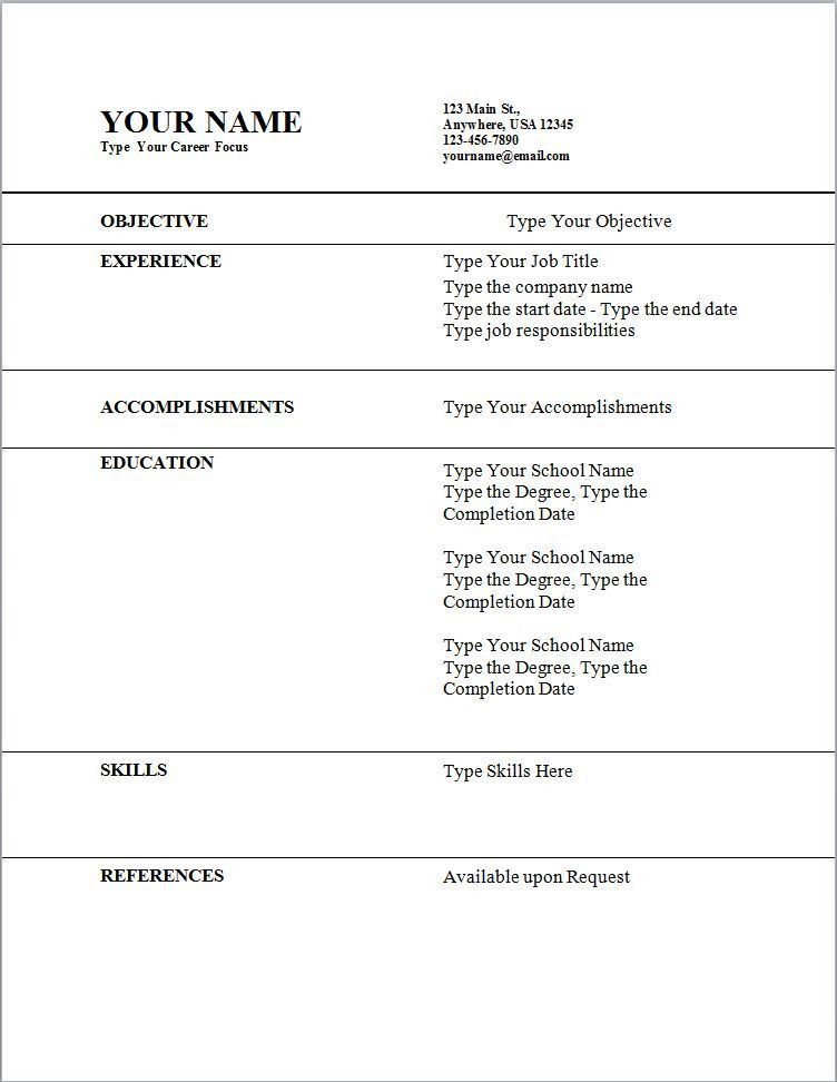 resume templates first job sample of a resume objective visitor ...