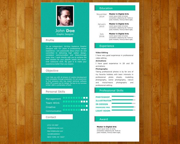 Absolutely Smart Powerpoint Resume 11 Free Single Slide Resume ...