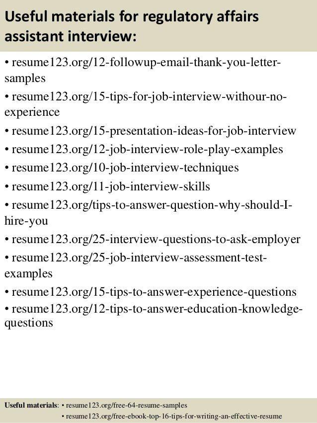 Regulatory Affairs Resume Sample] Professional Regulatory Affairs ...