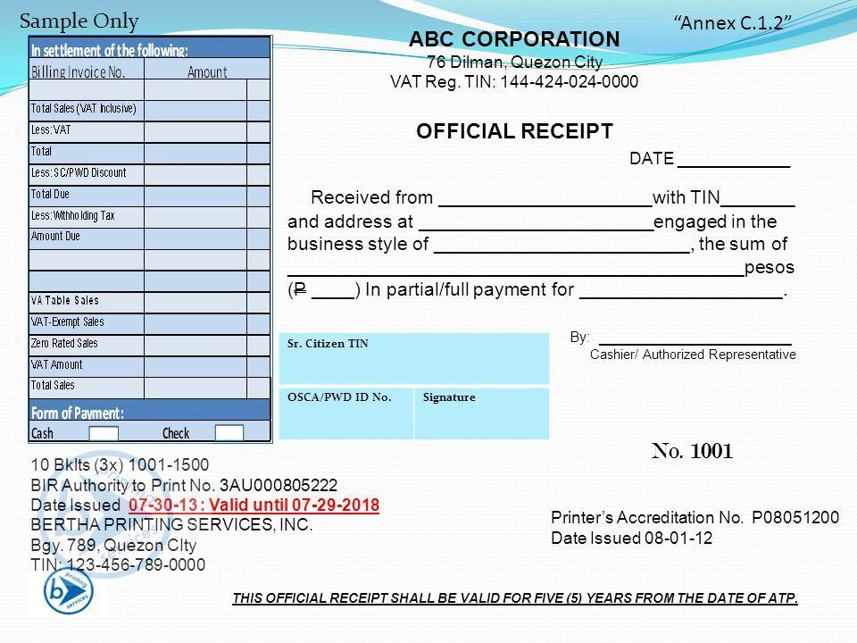 Official Receipt Sample Official Receipt Template 6 Free Word Pdf – Sample Official Receipt