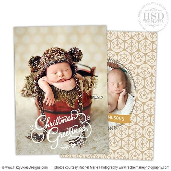 Christmas Card Templates for Photoshop, Christmas Photo Overlays ...