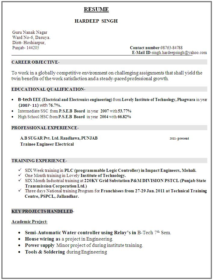 Electronic Engineering Technician Resume. repair technician resume ...
