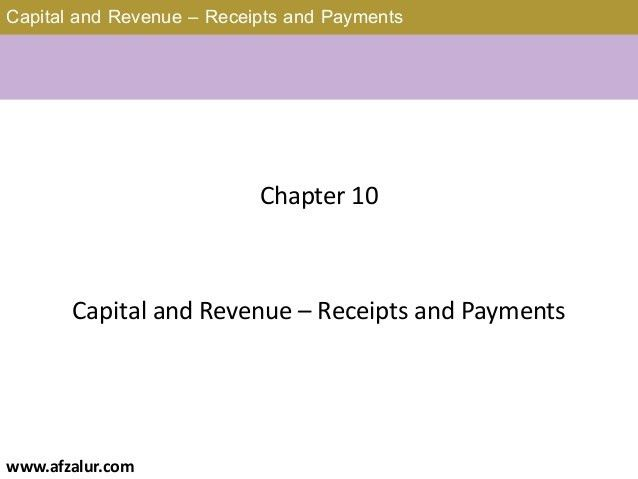 Receipt and Payment