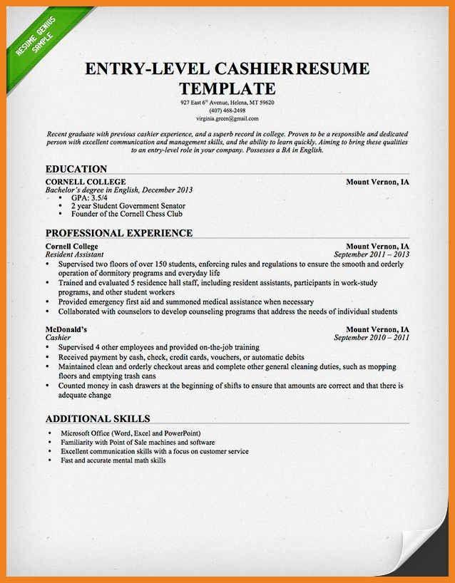 cashier resume skills | teller resume sample