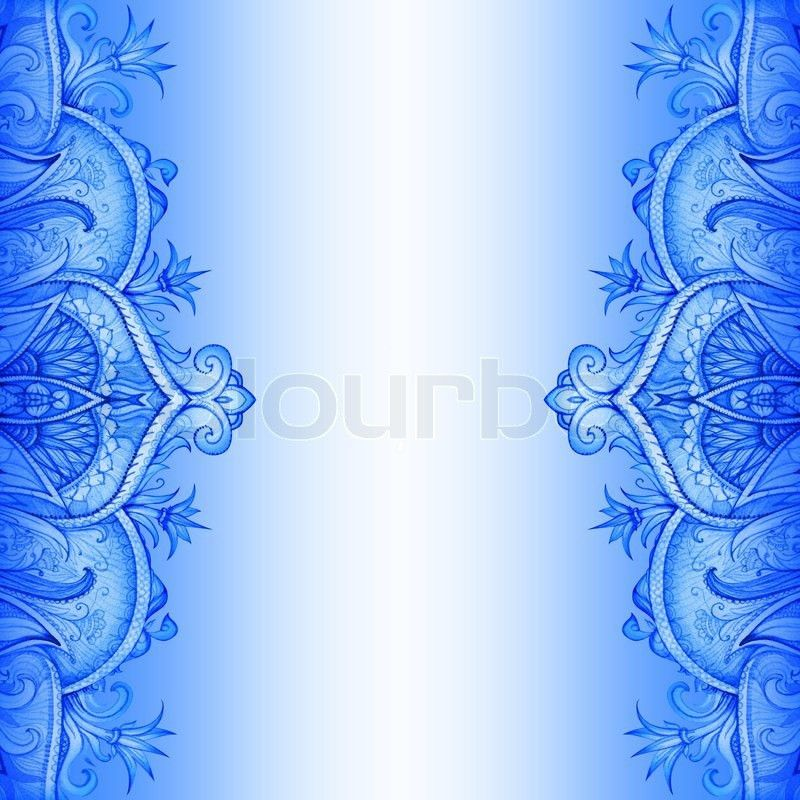 Wedding Invitation Card Blue Background Design ~ Yaseen for .