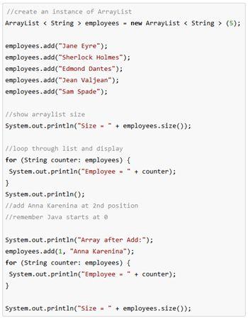 Java ArrayList Add Method: Code & Examples | Study.com