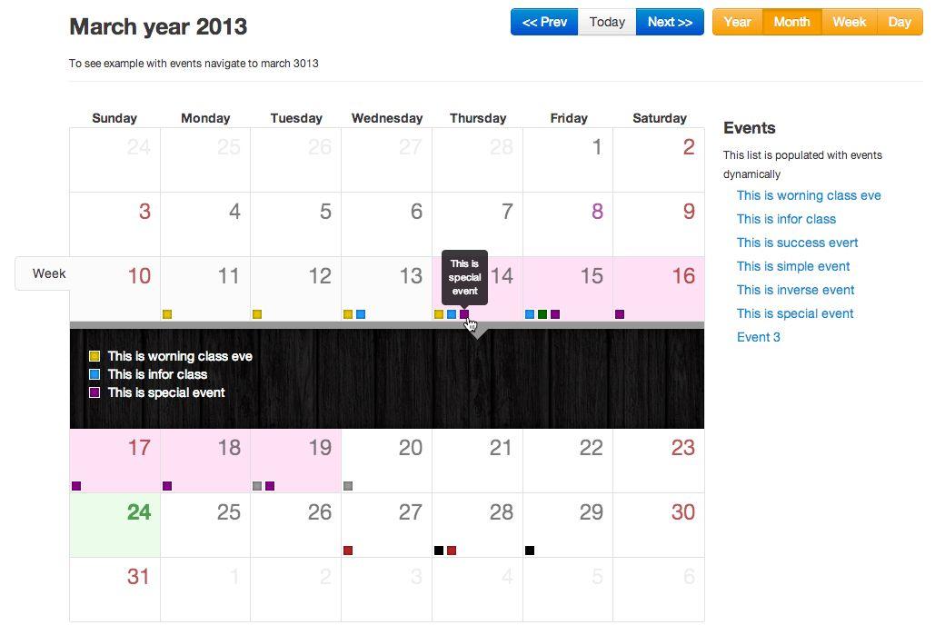 GitHub - Serhioromano/bootstrap-calendar: Full view calendar with ...