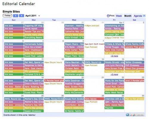 Editorial Calendar Template. How To Create A Social Media Content ...