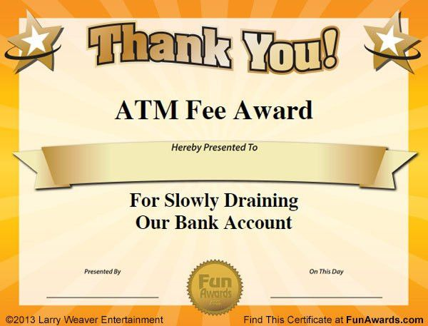 free funny award certificates templates | Sample Funny Office ...