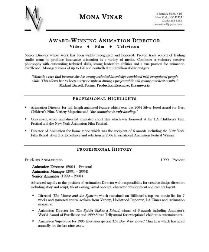 professional highlights resume examples 5 resume career