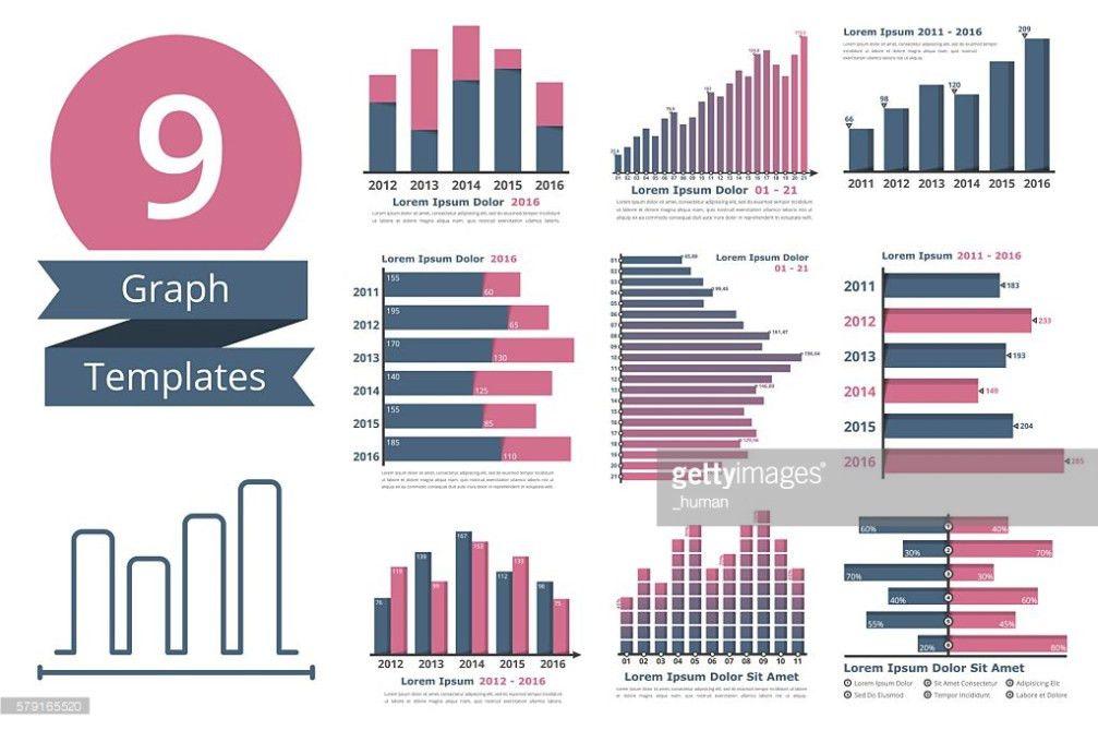 Graphs And Charts Templates Vector Art | Thinkstock