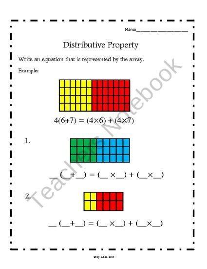 89 best Distributive Property images on Pinterest | Distributive ...