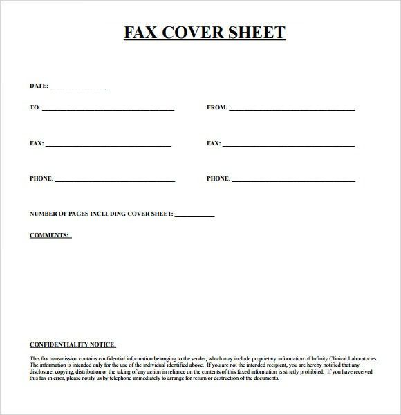 Cover Sheet Fax Template Fax Cover Sheet Template Free Fax Cover ...