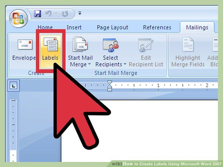 How to Create Labels Using Microsoft Word 2007: 13 Steps