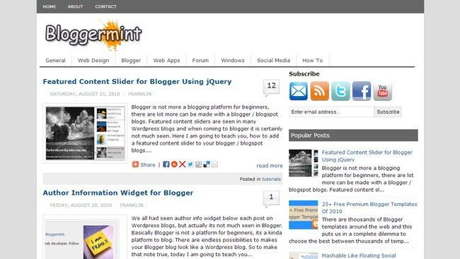 25 Collection Of Free Blogger Templates | Downgraf