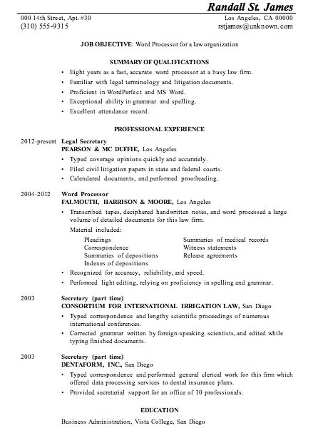 Processor Resume Examples. Processor. Best Resume And Cover Letter ...