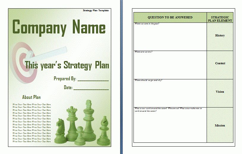Strategic Plan Template Word Top Resources To Get Free - Business strategic plan template