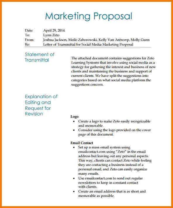 6 social media marketing proposal | Receipt Templates