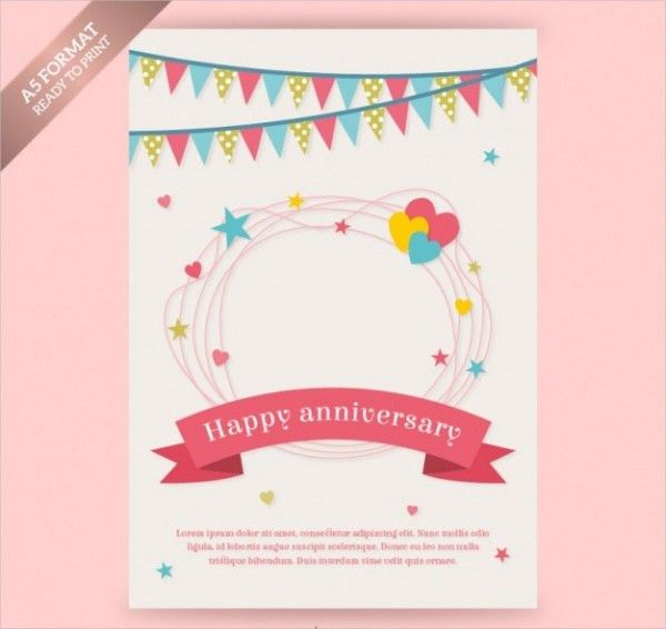 20+ Anniversary Cards - PSD, Vector Download