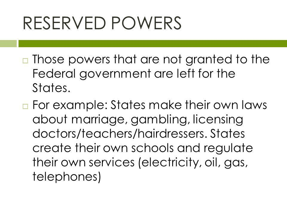 FOUNDATIONS OF GOVERNMENT Federalism. Review: Checks and Balances ...