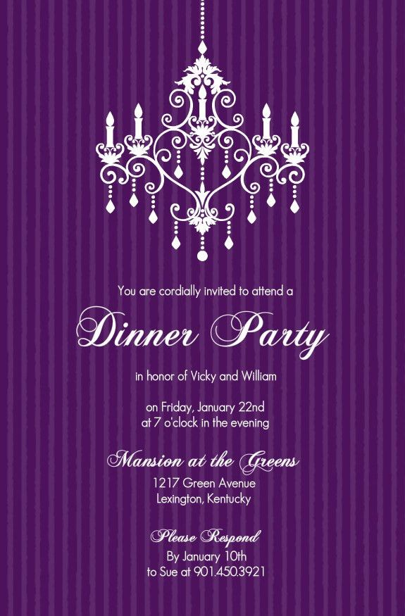 Dinner Party Invitation Template - Themesflip.Com