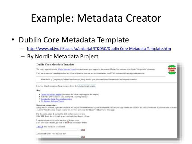 MetadataTheory: Metadata Tools (7th of 10)